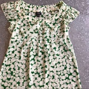 Woman's Sheer Blouse Green and White. SZ XS
